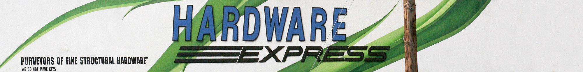 Hardware Express storefront banner.