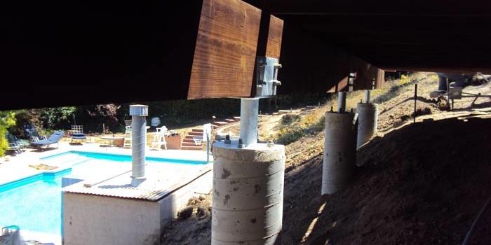 Custom galvanized pipe column.