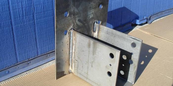 Photo of custom beam hanger.