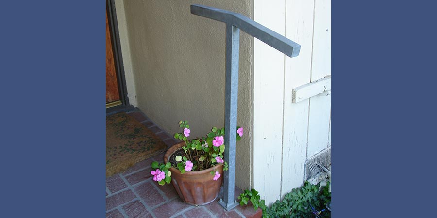 Custom galvanized safety hand-hold