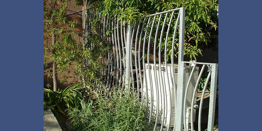 Galvanized custom fence panels